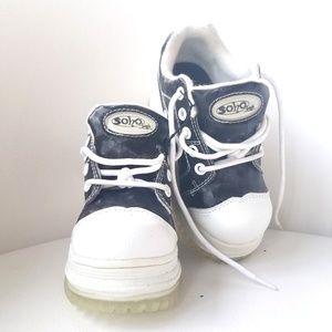 Soho Girls Black Platform Sneakers